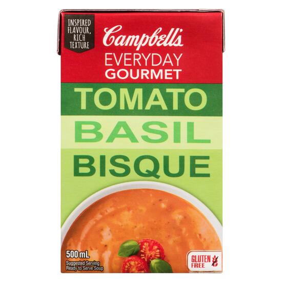 Campbell's Everyday Gourmet Ready to Serve Soup Tomato Basil Bisque - 500ml