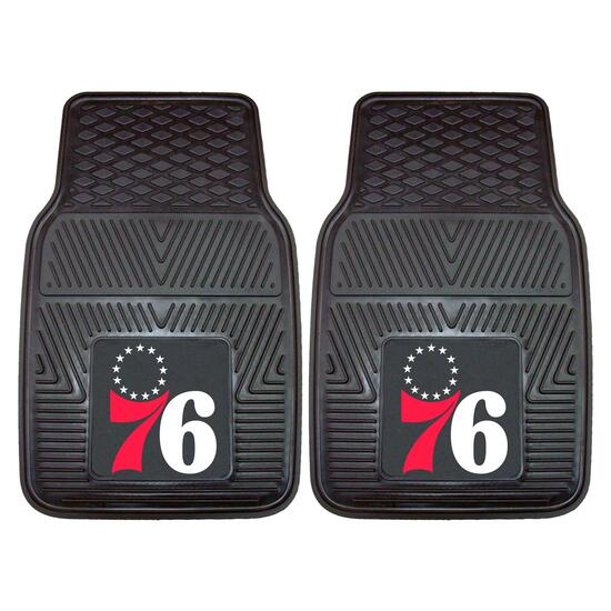 NBA Philadelphia 76ers Vinyl Car Mat Set - 2pk.
