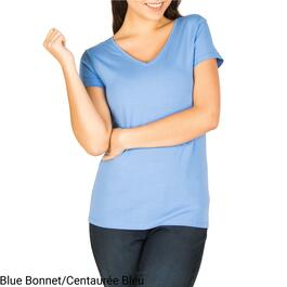mySTYLE Women's Stretch Fashion V-Neck Tee - S-XL