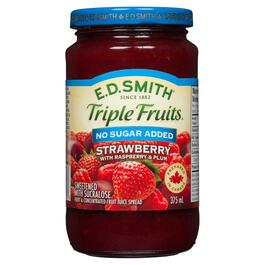 E.D. Smith Triple Fruits Strawberry with Raspberry and Plum Spread - 375ml