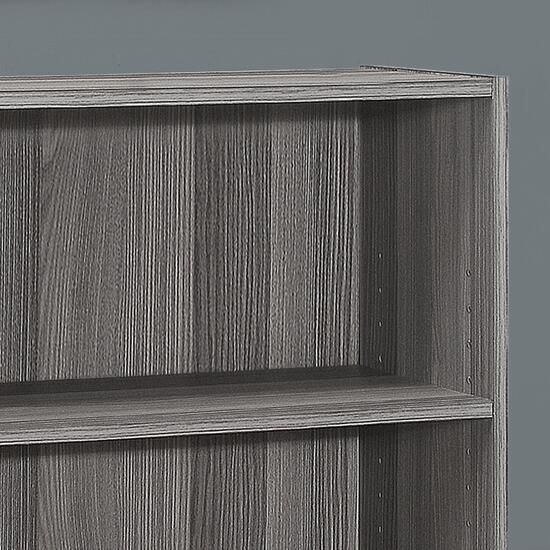 Monarch Specialties Dark Taupe Bookcase - 36in.