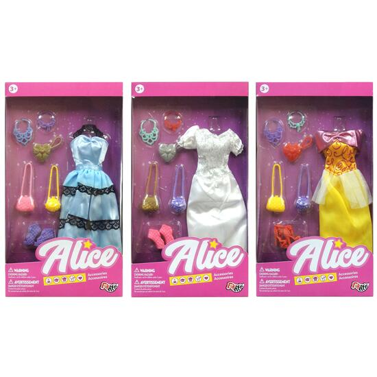 Funatic Alice Assorted Doll Outfits - 7 pc.