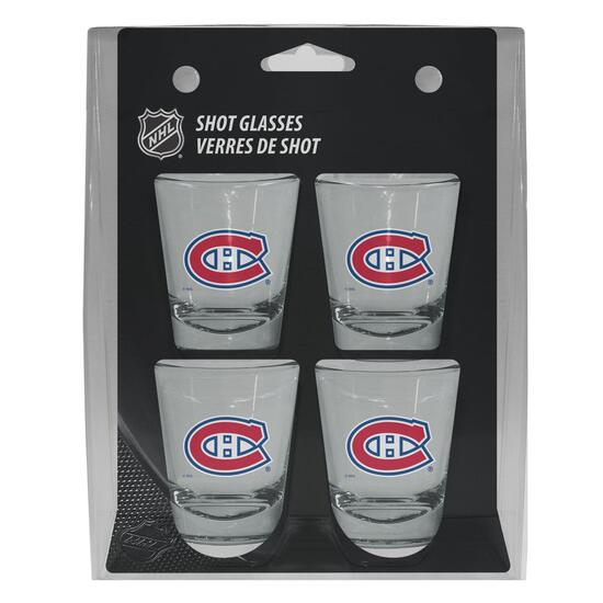 NHL Montreal Canadiens Shot Glass Gift Set - 4pk.