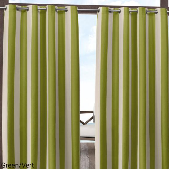 Exclusive Home Canopy Stripe Indoor Outdoor Curtain Panel 2pc. - 108in.