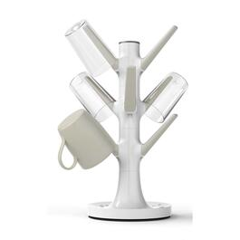 Silicone Zone Karim Collection White Non-Slip Cup Tree