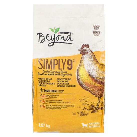 Purina Beyond Simply 9 Natural Chicken Dog Food - 1.67kg