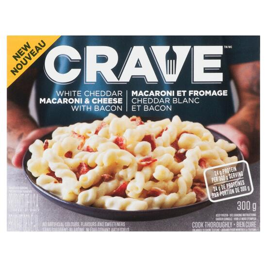 Crave White Cheddar with Bacon Macaroni and Cheese - 300g
