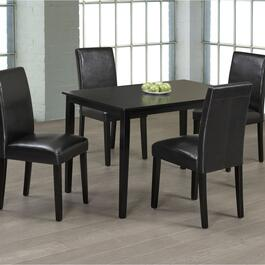 Titus Solid Wood and Wood Veneers Dining Table Seats 4