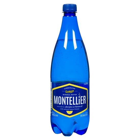 Montellier Lemon Carbonated Mineral Water - 1L