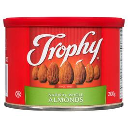 Trophy Natural Whole Almonds - 200g