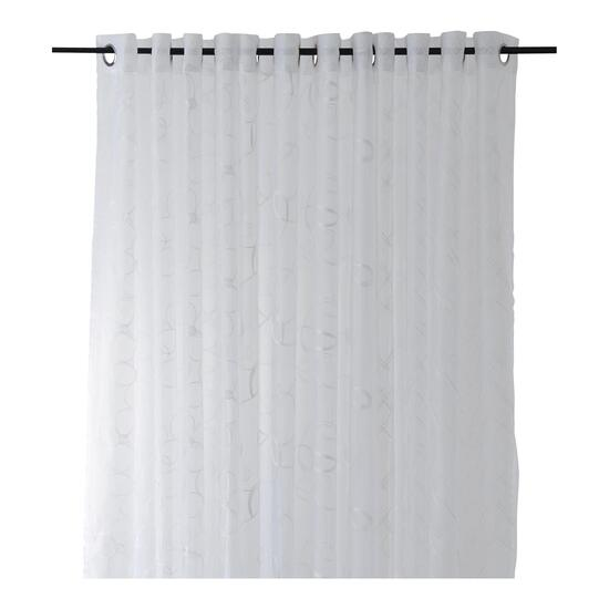 Embroidered Sheer Curtain Panel - 84in.