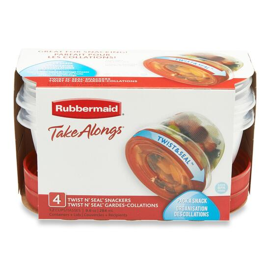 Rubbermaid Take Alongs Twist and Seal Food Storage Container 4pk. - 284ml