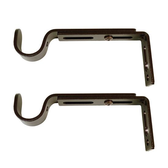Versailles Espresso Single Wall Brackets 2pc. - 4in.-6in.