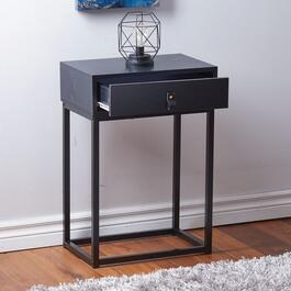 HomeStyles Black End Table with Drawer