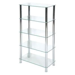 iH Casadecor 5-Tier Chrome Rectangular Frosted Glass Stand