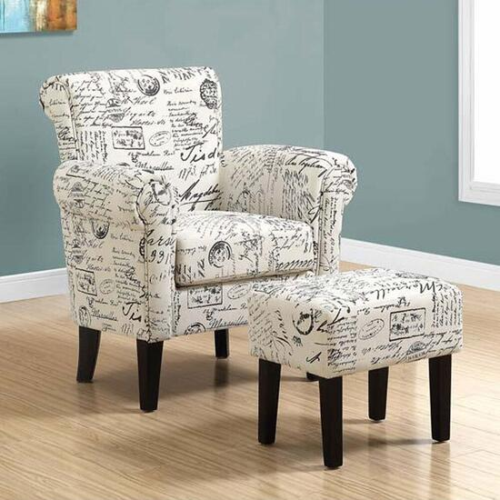 Monarch Specialties Traditional Style Chair and Ottoman set