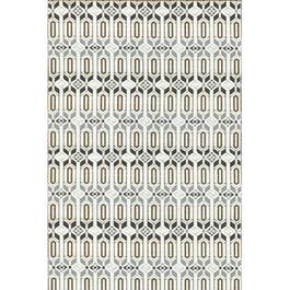 Mad Mats Runner Moroccan Indoor/Outdoor Carpet - Grey/White