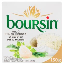 Boursin Fresh Garlic and Fine Herbs Soft White Cheese 39% M.F. - 150g