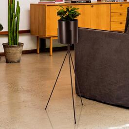 Truu Design Black Floor Planter with Stand - 32in.