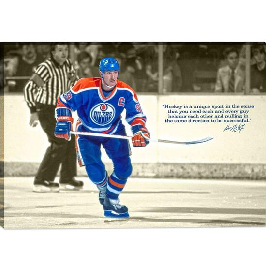 Wayne Gretzky Printed Canvas with Quote
