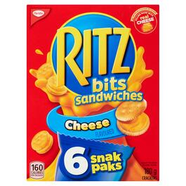 Christie Ritz Bits Cheese Flavoured Sandwiches Crackers 6pk. - 180g