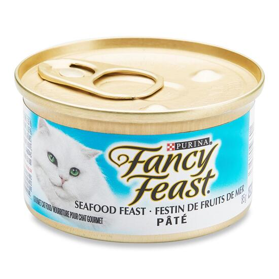 Purina Fancy Feast Seafood Pate Feast Cat Food - 85g