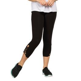ACX Active Women's Black Capri with Side Detail - S-XL