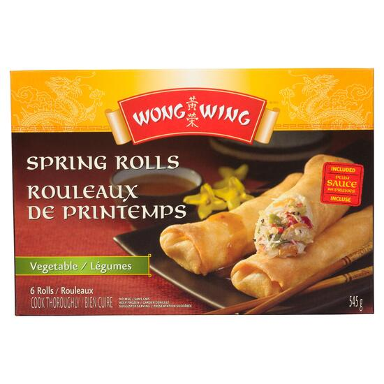 Wong Wing Vegetable Spring Rolls - 545g
