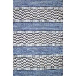 Avocado Décor Blue Dhurrie Largo Rug - 2.3ft. x 7.9ft.