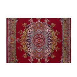 Avocado Décor Artificial Silk Medallion Multi Red Rug- 3 ft.3 in. x 4 ft. 6 in.
