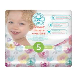 The Honest Company Rose Blossom Patterned Diapers Size 5 - 100pk.