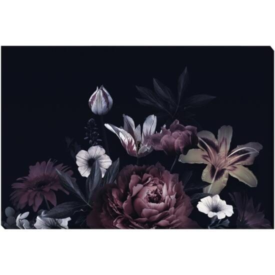 Vintage Floral Canvas Art - 36in. x 24in.