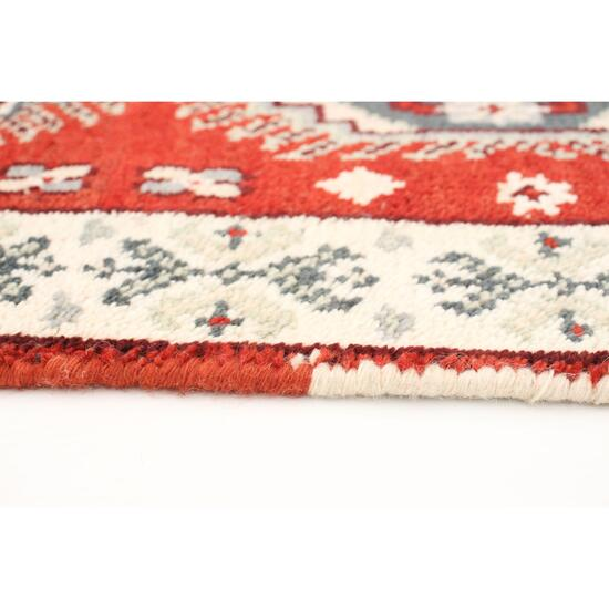 eCarpet Gallery Hand-Knotted Kazak Royal IV Red Wool Rug - 2.3ft. x 6ft.