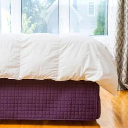 Gouchee Design Purple Grid Bedskirt