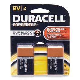 Duracell 9V Coppertop Batteries - 2pk.