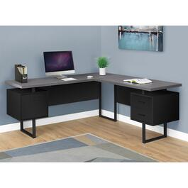 Monarch Specialties Black/Grey Computer Desk - 70in.