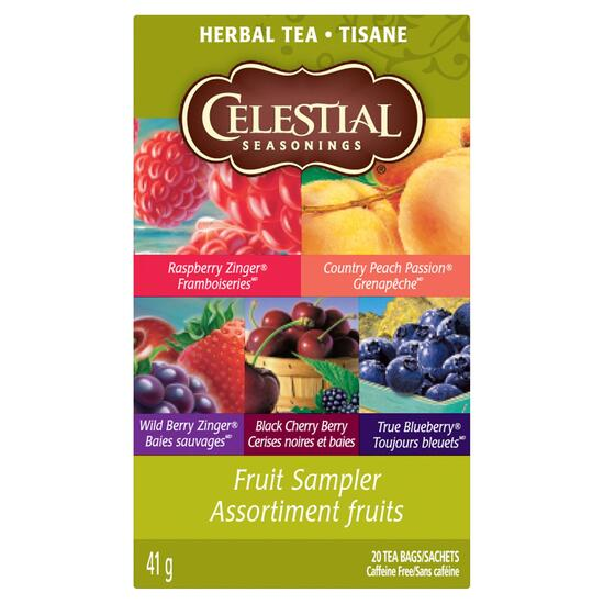 Celestial Seasonings Fruit Sampler Tea - 20pk.