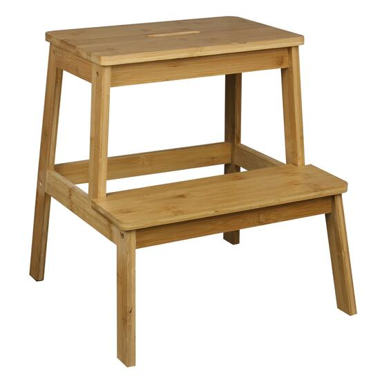 Bamboo Step Stool - 18.5in.