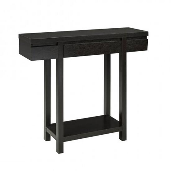 Brassex Dark Cherry Console Table with Storage