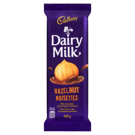 Cadbury Dairy Milk Hazelnut Milk Chocolate Bar - 100g