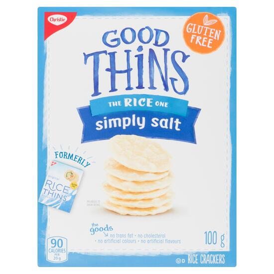 Christie Simply Salt Good Thins Rice Crackers - 100g