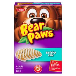 Bear Paws Soft Birthday Cake Cookies 6pk. - 168g
