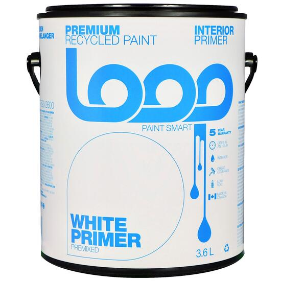 Loop White Interior Latex Premium Recycled Primer - 3.8L