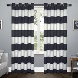 Exclusive Home Rugby Sateen Blackout Curtains - 84in.