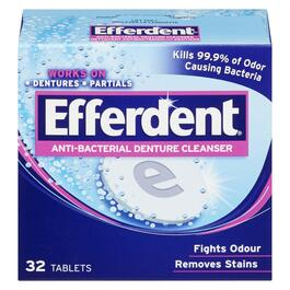 Efferdent® Anti-Bacterial Denture Cleanser - 32pk.