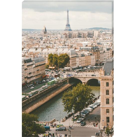 Paris View From Far Canvas Art - 24in. x 36in.