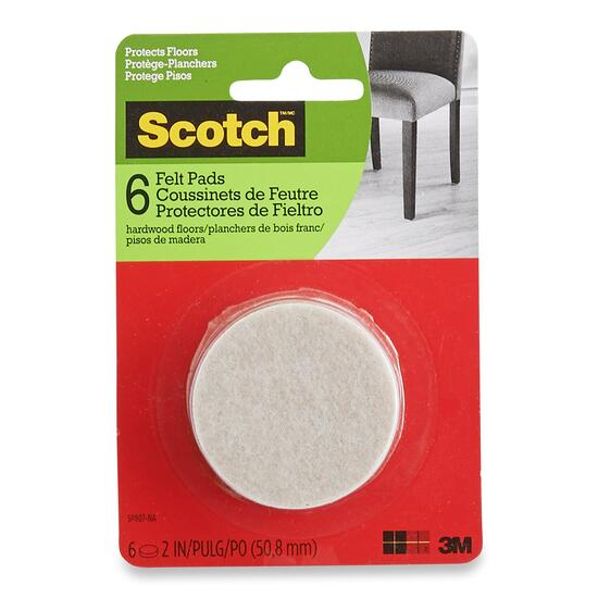 Scotch Round Brown Felt Pads - 6pk.