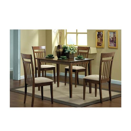 Monarch Specialties 5 Piece Dining Set - Walnut