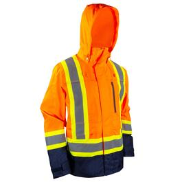 Tradesmax Pro Men's Orange High Visibility Jacket - S-XXL