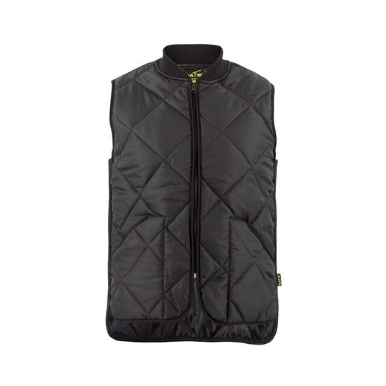 NAT'S Black Men's Padded Work Vest - S-XXL